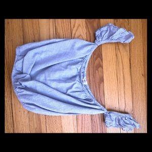 Pacsun baby blue crop top